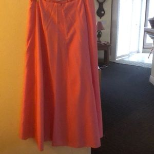 Crimson Dresses - Beautiful Coral Top, Skirt and Wrap
